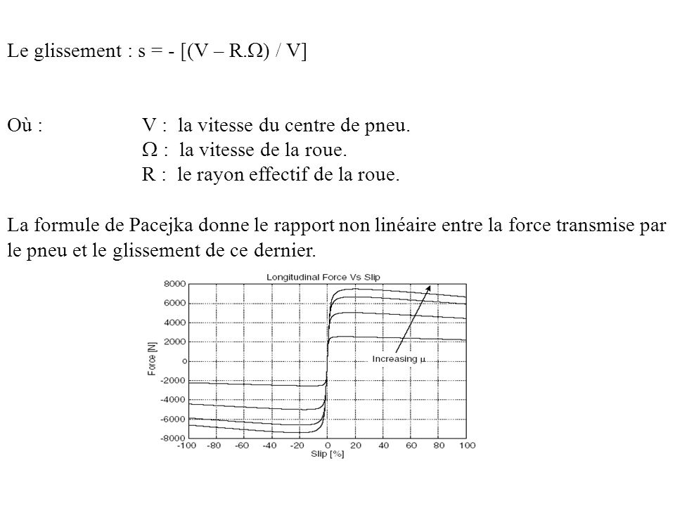 Le glissement : s = - [(V – R.) / V]